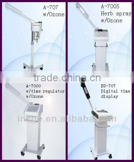 A-707 stand up facial steamer spray ozone oxygen beauty instrument/ newest ozone vapour facial atomizing sor skin care machine