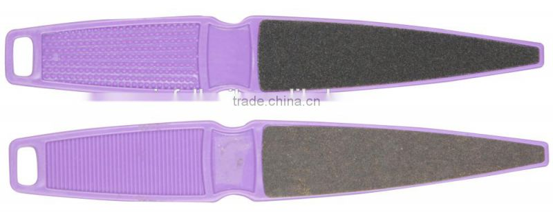 Purple sandpaper foot file,Pointed File,foot file with plastic handle
