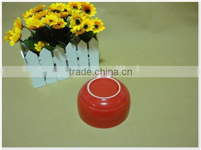 2015 high quality red custom printed microwavable ceramic bowls