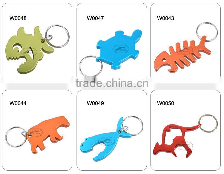 Aluminum Fish Keychain Bottle Openers