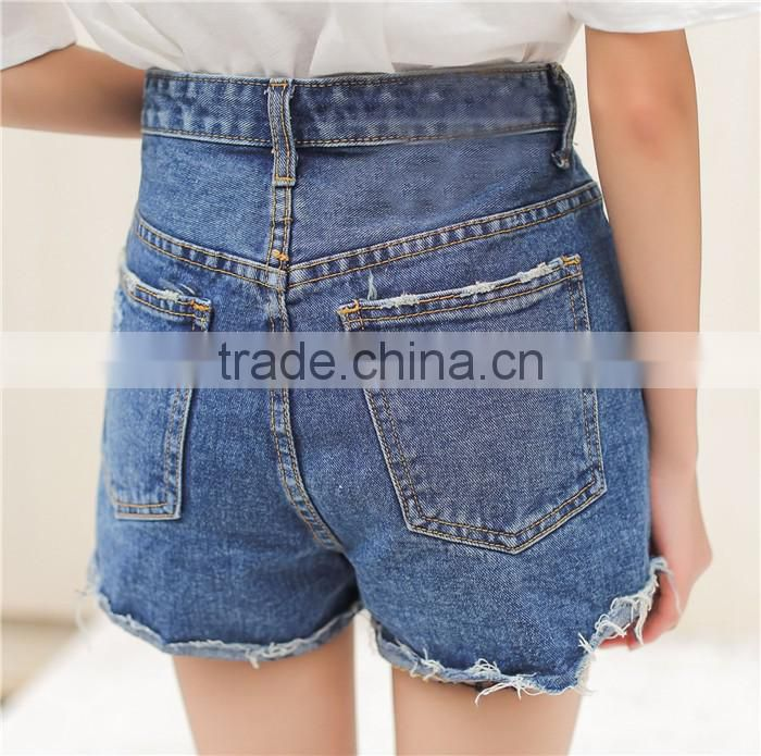 2016 summer new design ladies fashion jeans shorts