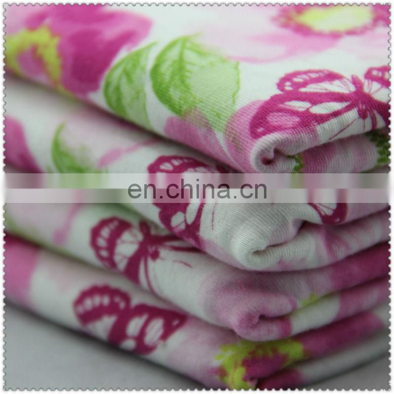 knitted floral cotton fabric / printing big flowers / cheap price