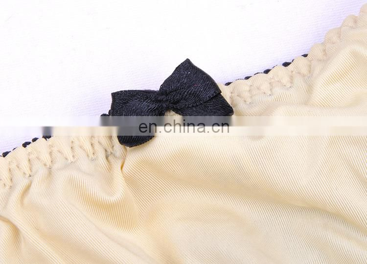 2015 Sexy Hot Gold Tone Black Lace ladies Panties