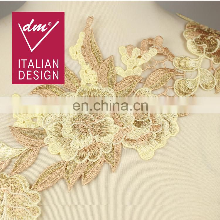 New Arrival machine knitted golden lace trim for garments