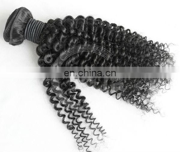 hot hair- natural black 8-30inch free shipping mongolian kinky curly hair weave in wholesale price