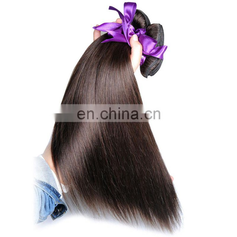 Qingdao hair factory straight hair remy hair weave