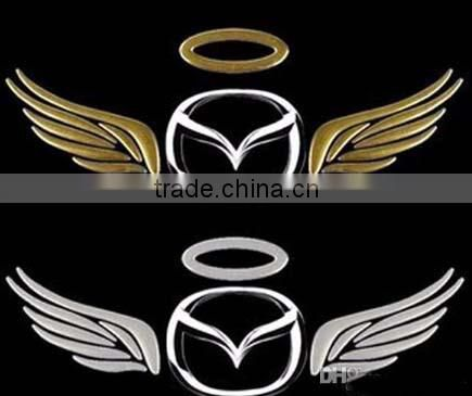 Car stickers 3 d metal sticker Individual character decorative laminated PVC soft paste sticker angel wings