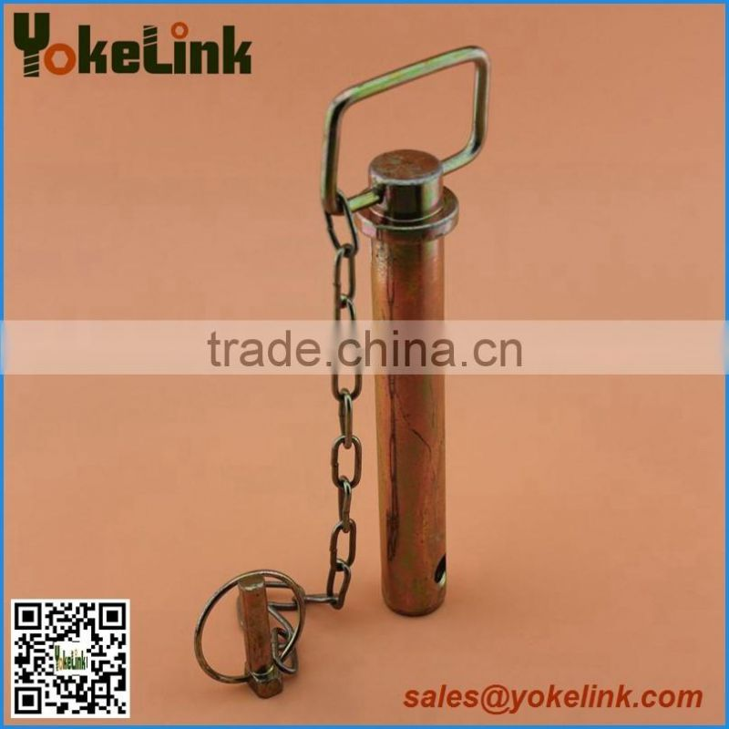 Trailer hitch pin tow pin with chain and wire lock pin for tractor ...