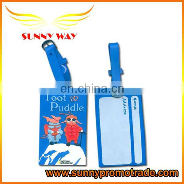 3D soft pvc luggage tag