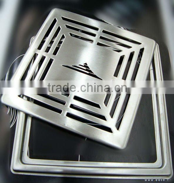 304# Stainless Steel Square Floor Drain 140x140 mm