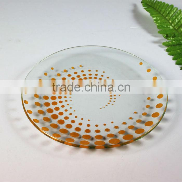 Fashion Tempered Glass Plate
