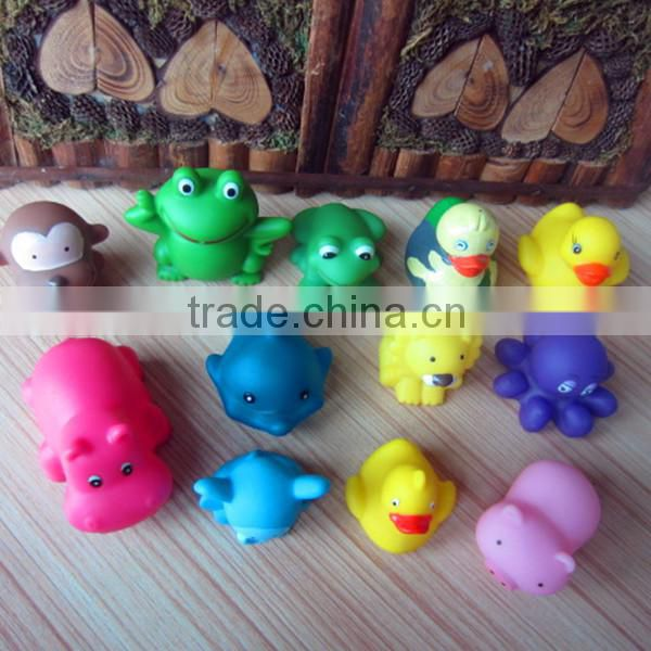 2015 Rubber Yellow Duck Bath Toy/ Dophine Bath Toy/rubber whale bath toy from Everfriend