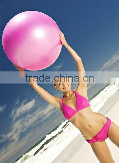 New Exercise Ball & Air Pump for Yoga Fitness Pilates Sculpting 65/75/85/95cm several colors Image