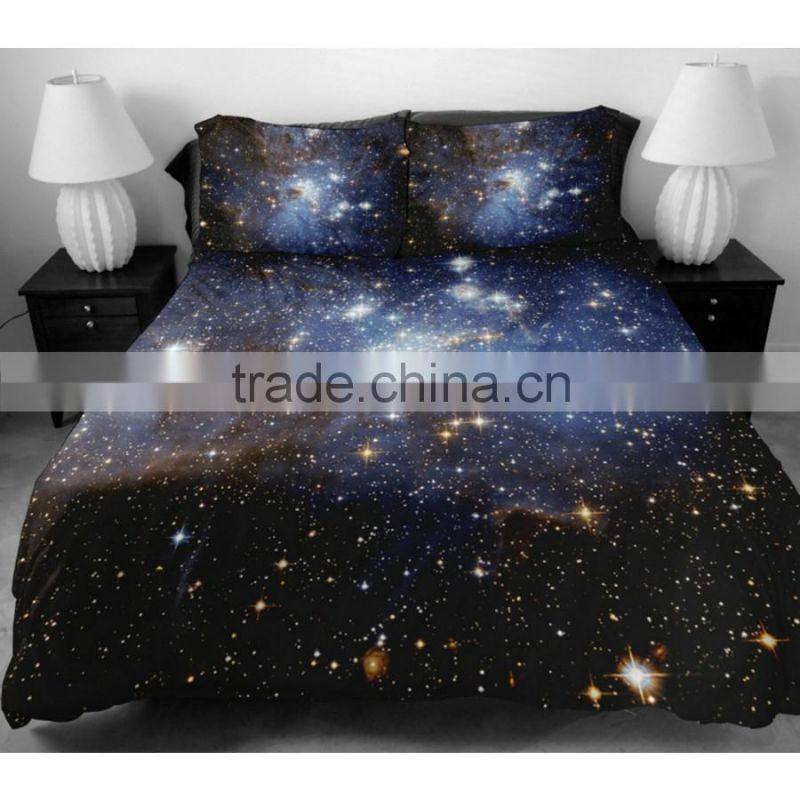 Hot sale 100% polyester 3D custom printed photo luxury microfiber bedding sheet set queen size duvet cover set