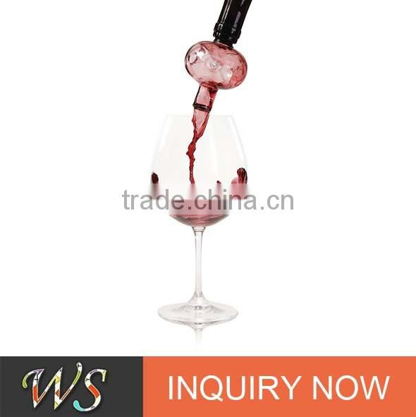WS-AP03 wingshung angel crystal wine aerator for bar accessories