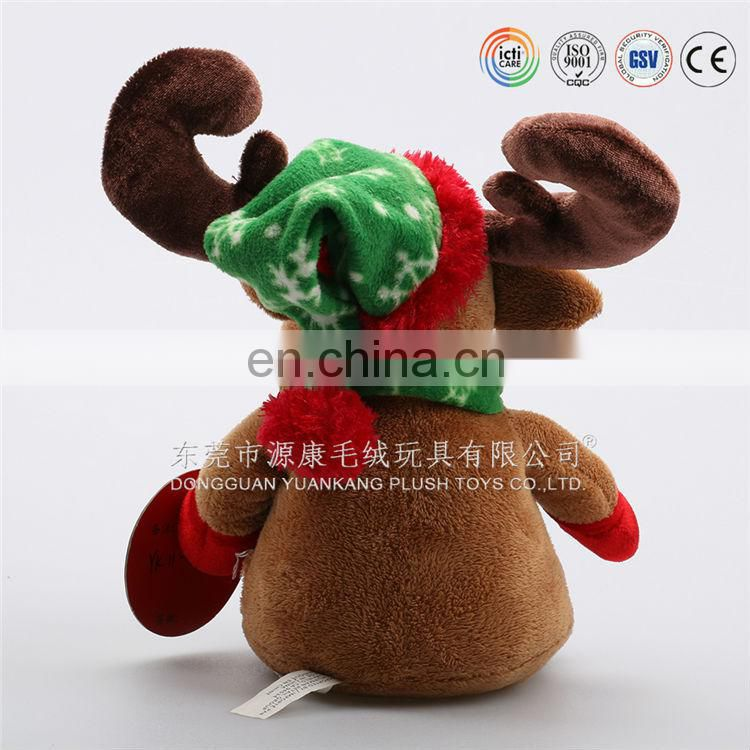 CE/EN71/ASTM standard plush musical reindeer stuffed animals