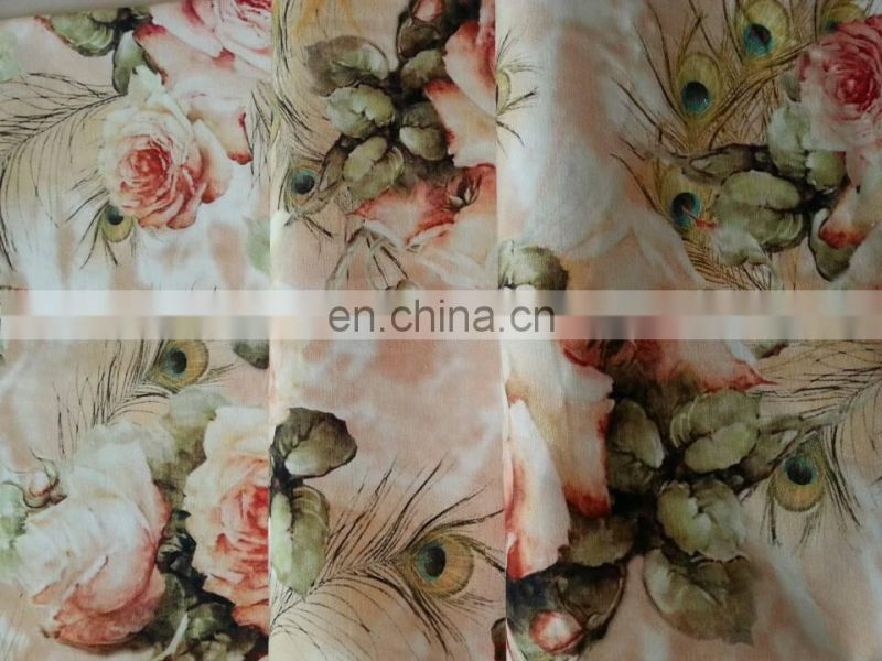 Digital Printed Cotton Fabric Wholesale Small Order Quantity For Woman Garment