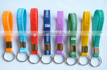 the Cheapest custom silicone Wristband key chains