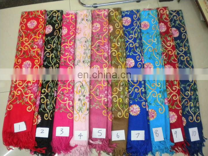 rose embroider scarf 170*68cm lady's scarf woman shawl