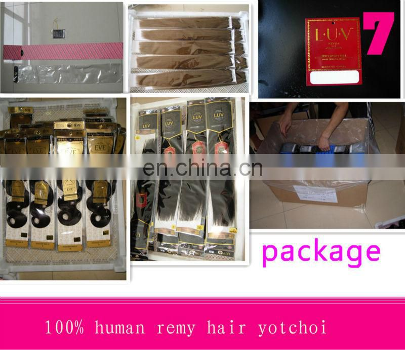 Hot sale factory cheap price high quality 100% human remy clip in hair extension