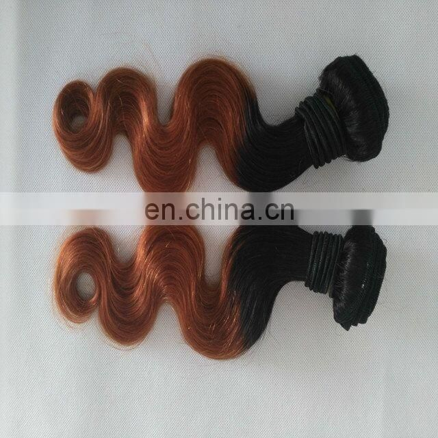 best100% Human hair Body Wave two tone color ombre hair weave for Africa