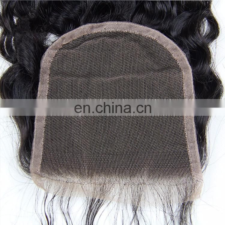 New Bohemian Hair Lace Closure Body Wave Three And Free Part Remy Human Hair Round Lace Closure