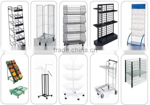 Chrome plated with child seats 4 wheel shopping trolley/shopping mall/shopping cart (RHB-90C)