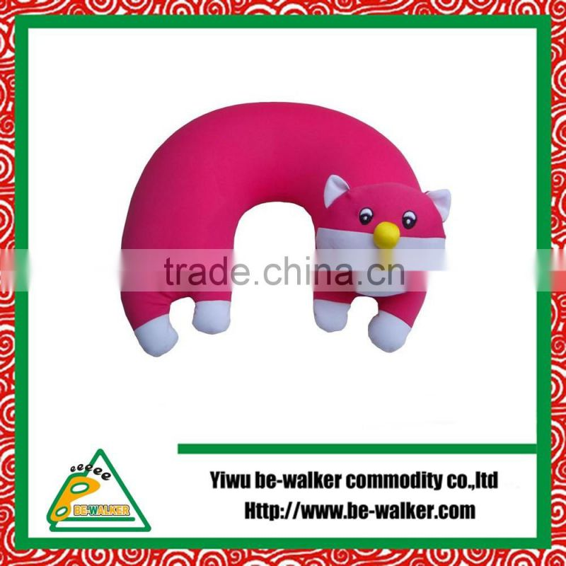 Spandex Baby pillow Animal Shape Toys For Decorative Gift Stuffed Polystyrene Beads