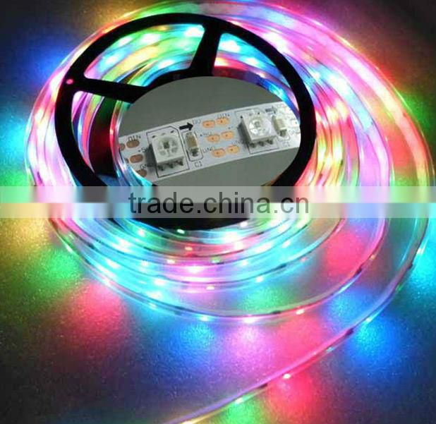 3.2ft 1M ws2812b rgb led strip 5050 SMD led strip waterproof,5V ,color programmable,addressable,with CE,ROHS approval
