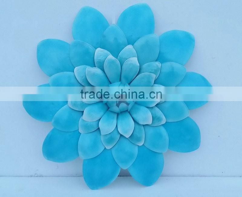 Wrought iron flower wall decor