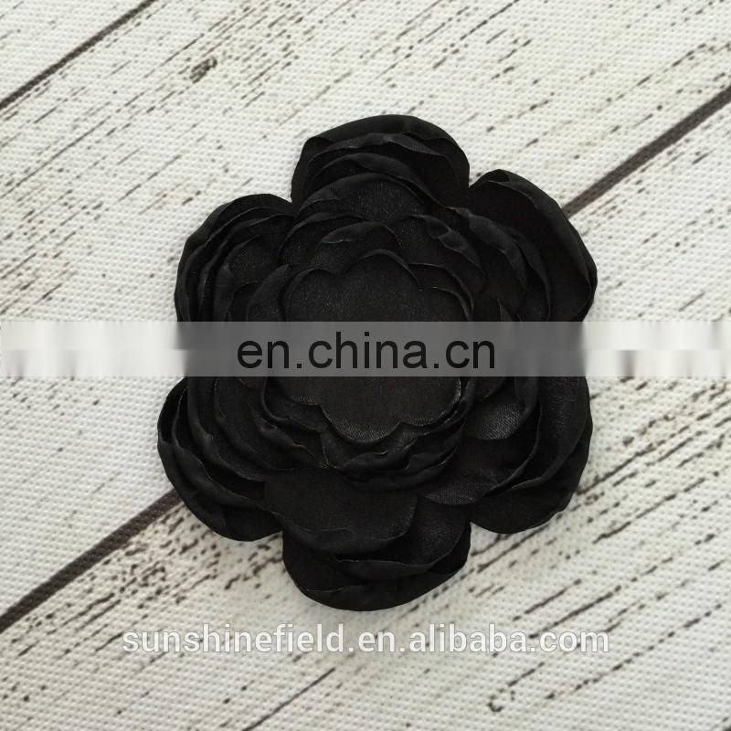 Seven grilled side flowers satin burning flowers handmade fashion flower