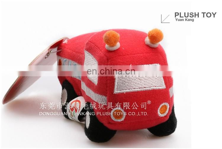 Red plush toy fire engine truck
