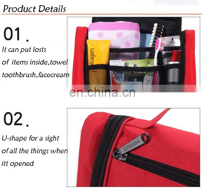 600D Oxford Unisex Wash Foldable Organizer Multi-functional Travel Cosmetic Bag