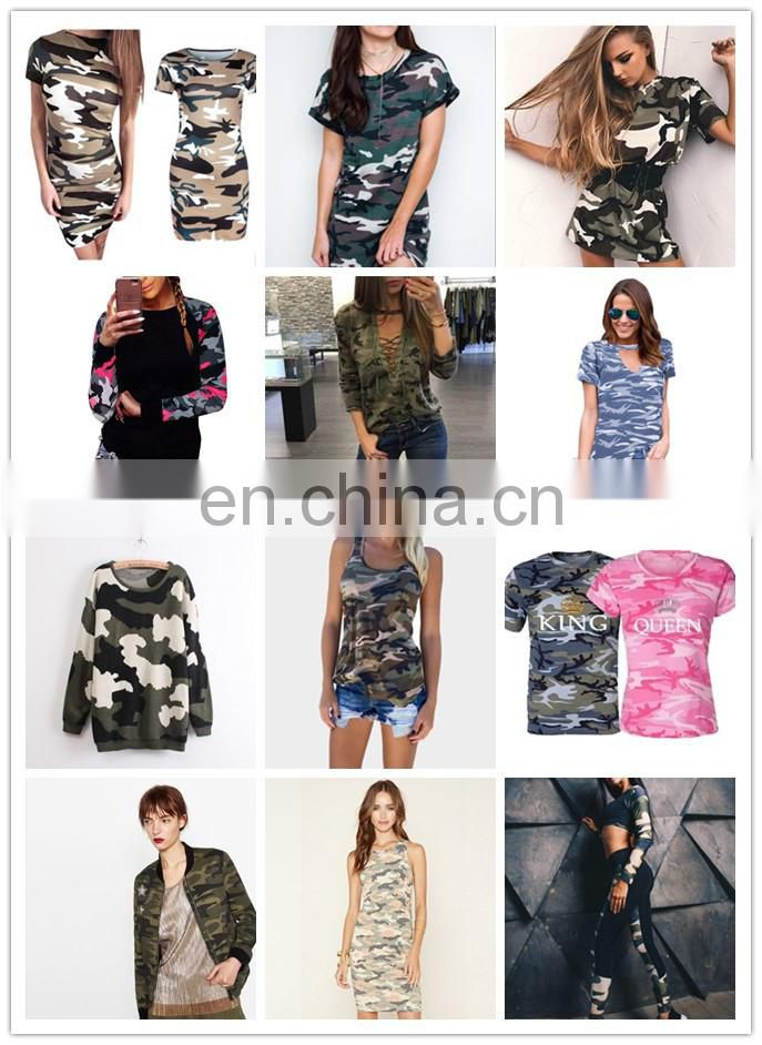Women Army Military Camouflage hooded sexy croptop sweater shirt