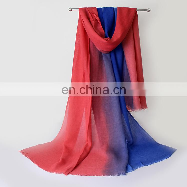 Fashion two colors women pashmina scarf in popular sale