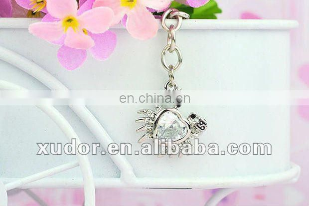 Twelve constellations keychain,rhinestone keychain,souvenir promotional gifts
