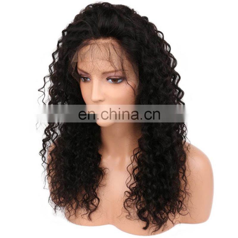 Peruvian lace front wigs kinky curl human hair lace wig