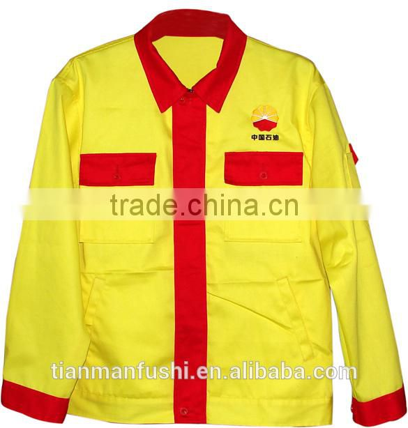Wholesale clothing petroleum oil field workwear with long sleeves