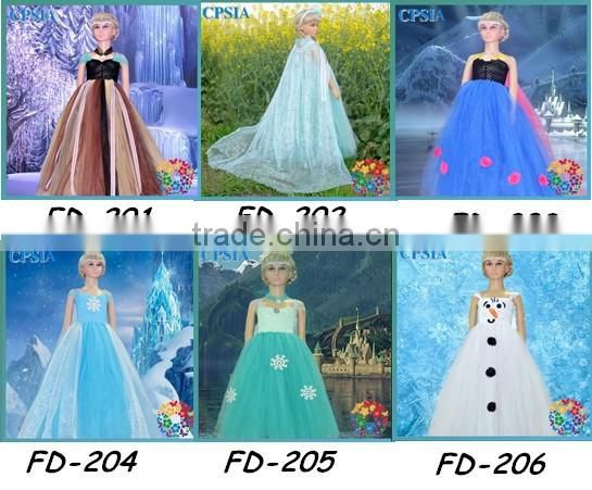 Dress Cosplay Movie Formal Dress and Snowflake fab Snowflake Tutu Dress Set