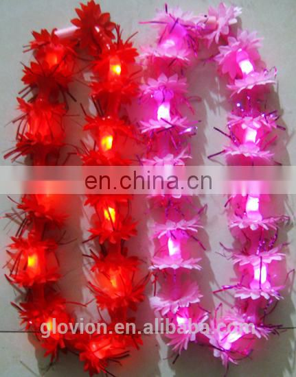 LED flash fancy colorful leis for activities