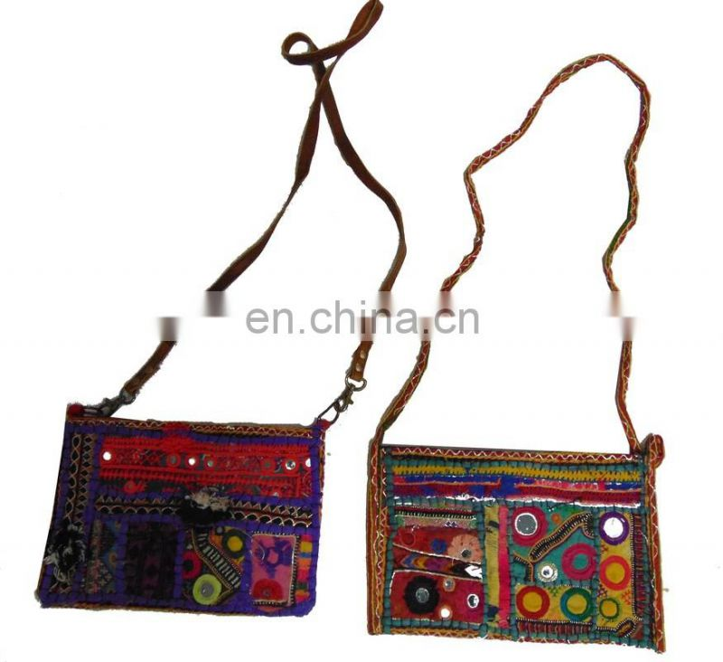 Vintage Textile Embroidery Clutch Bag