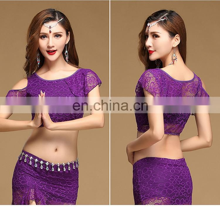 S-3107 new sexy lace 4 colors short indian belly dance top
