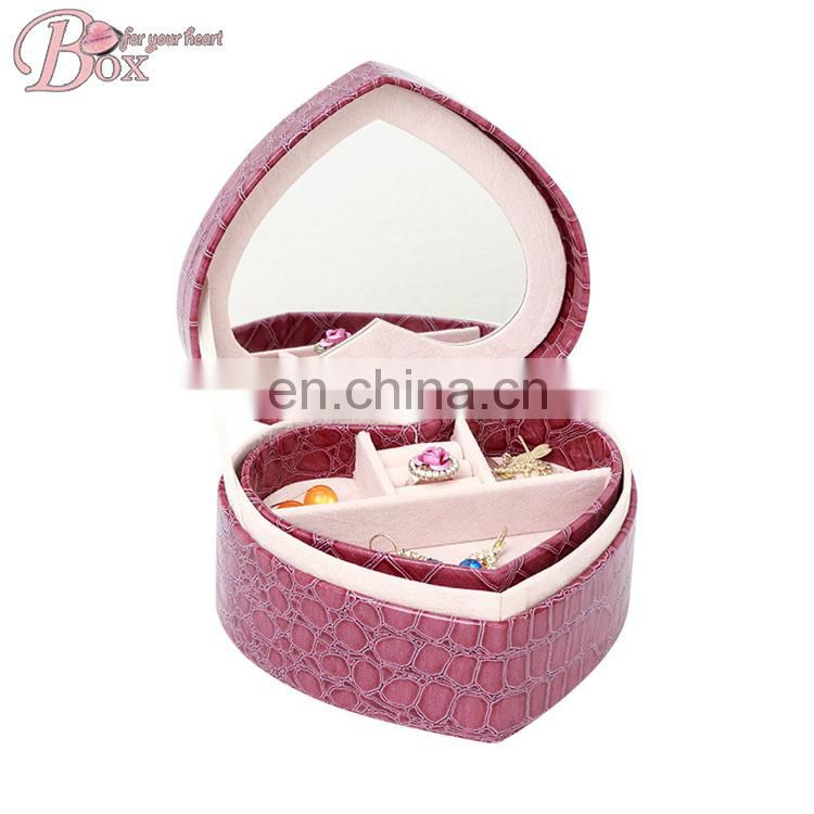 High Quality Gift Heart Shaped Red Storage Box