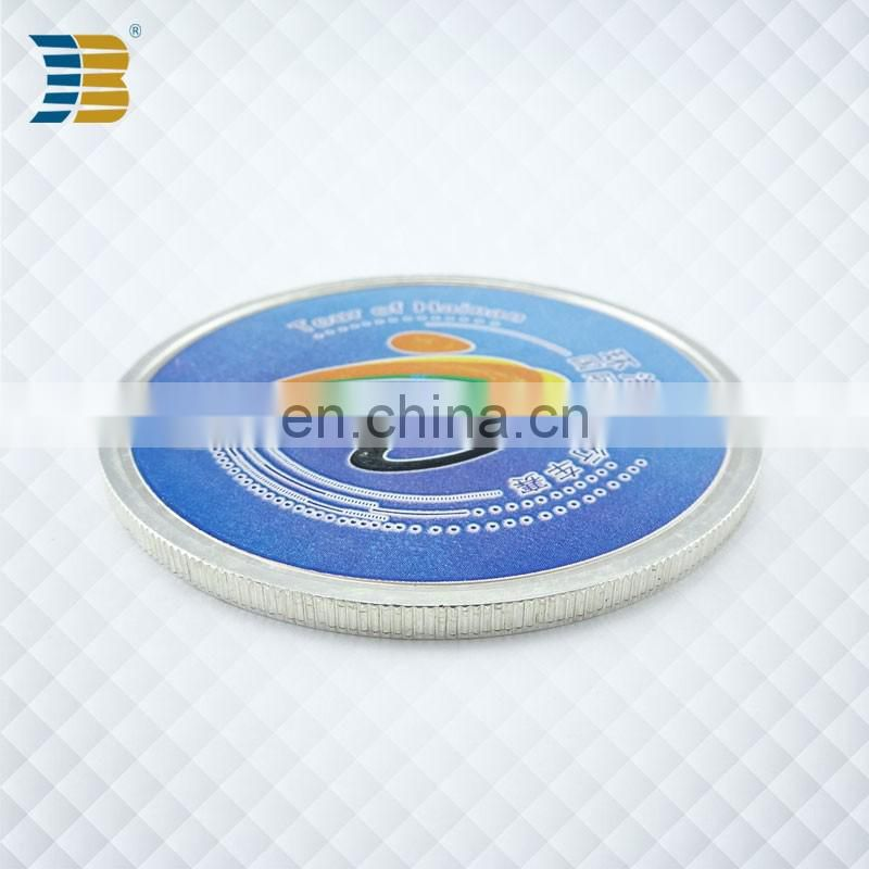 custom enamel silver plating souvenir coin for Hainan bicycle race