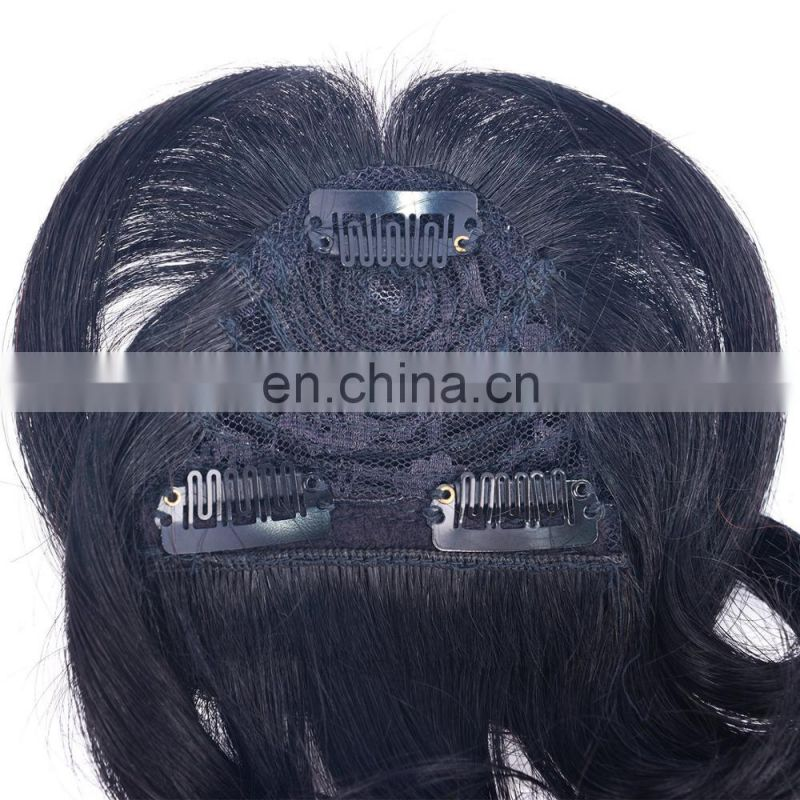 100% human hair fringe clip in hair bang wig