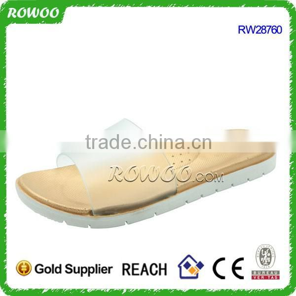 Transparent Lady indoor pcu slipper for footwear and promotion,light and comforatable