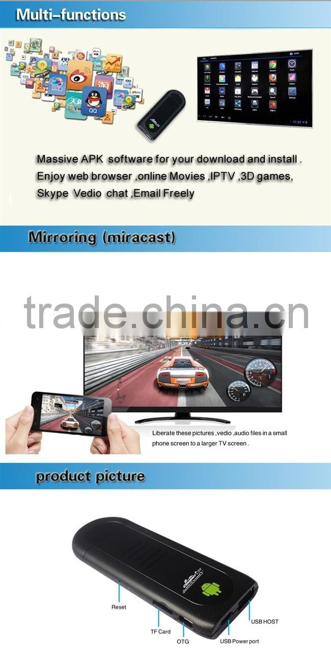 2014 Newest smart tv usb android stick with Wireless Display stick /Wireless HD dongle Wireless Home Digital Interface