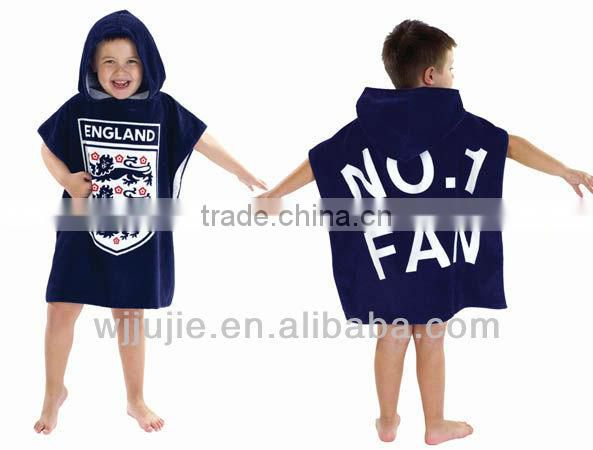 custom print kids knitted poncho