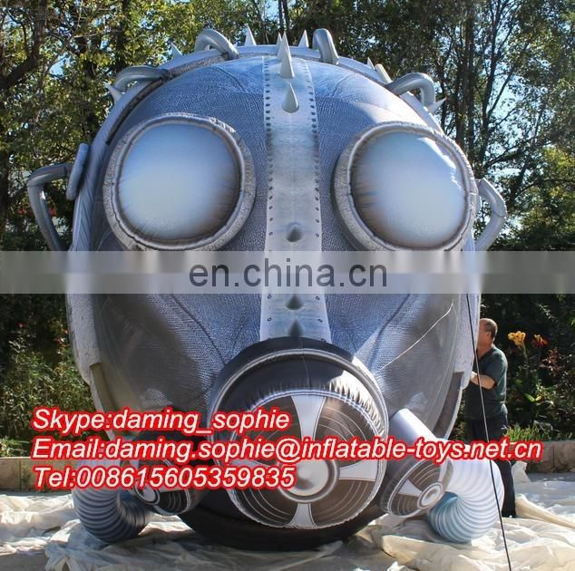 Giant Inflatable Gas Mask for Outdoors Promotion