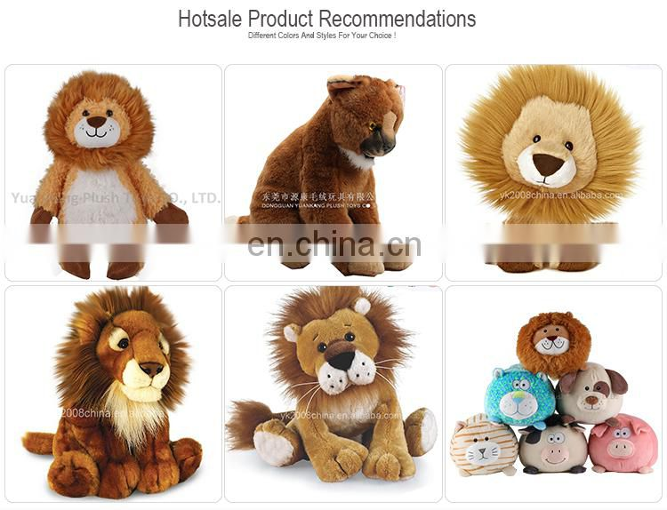 best supplier custom made toys stuffed animals cute big head lion plush doll toys